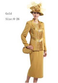 Women Dress Set Gold