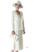 SKU#WO-190 Women Dress Set Ivory