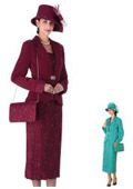 Dress Set Burgundy Turquoise