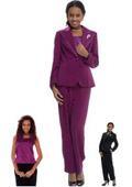 SKU#WO-151 Women 3 Piece Dress Set Raspberry, Purple $139