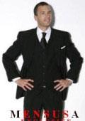 One Pleat Pants With 3 Buttons Solid Black Suits Super Light Weight Viscose~Rayon Fabric $199