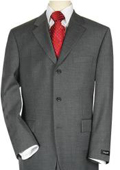 3-Button Mens Suit Dark