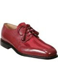 Oxfords Red - A Unique Twist on a Traditional Dress Shoe Lace-Up Tassels