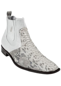SKU#KA6975 Men's White Genuine python ~ snake Dressy Boot