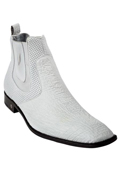 SKU#KA6989 Men's White Genuine Shark Dressy Boot