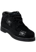 SKU#RA-1845 Wild West Casual Denim Shoe Black