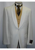 SKU#ER-28 Men's Ivory Dinner Jacket Shawl Collar Formal Wear Single Breasted One Button