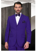 SKU#ER-25 Mens Purple Suit 2 Button Super 120's Extra Fine 2 Piece $139