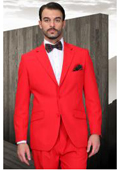 SKU#FR-15 Mens Red Suit 2 Button Super 120's Extra Fine 2 Piece