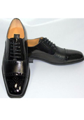 Toe Black Oxford Leather