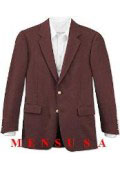 SKU# LQX149 Dark Burgundy ~ Maroon ~ Wine Color 2 Button Front 4 On Sleeves Fully Lined Metal Button (Men + Women) $175