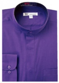Band Collar Dress Shirts
