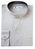 Band Collar Dress Shirts