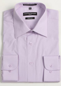 Men's Lavender Convertible Cuff Big & Tall Dress Shirt $49