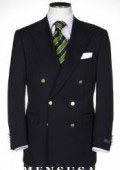 Solid Black Double Breasted Blazer With Best Cut & Fabric Mens suit $199