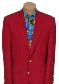 SKU# BR21 Exclusive Mens 2 Button Stunning RED DINNER BLAZER SUIT JACKET $159
