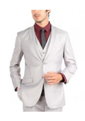 SKU#GT-039 Mens 2 Button 3 Piece Sinlge Breasted Slim Fit Suit $225