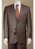 SKU#KA5889 Big and Tall Size 56 to 72 2-Button Suit Textured Patterned Sport Coat Fabric - Taupe