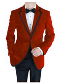 Velvet Velour Blazer Formal Tuxedo Jacket Sport Coat Two Tone Trimming Notch Collar Burgundy ~ Maroon ~ Wine Color $585