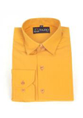 SKU#VZ1574 Mens Dress Shirt Slim Fit Orange $39