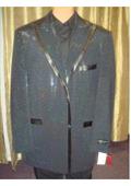 SKU#ES13 Mens Sequin Flashy Shiny Jacket/Blazer / Tuxedo/ Suit/Sportcoat Black