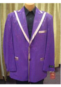 SKU#GF84 Mens Satin Shiny Sequin Flashy Shiny Jacket/Blazer / Tuxedo/ Suit/Sportcoat Purple $200
