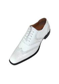 Mens White Classic Smooth Dress Shoe