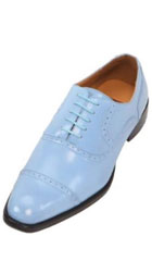 SKU#KA6668 Mens French Blue Oxford Dress Shoe