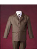 Brown boys suits