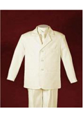 Ivory Slick Three Buttons Front One Center Back Boy Suit Custom Shop For Kids Clothes $89