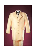 Longer Fashion Zoot Yellow Handsome Notch Lapel 5 Buttons Polyester Boy Zoot Suits $100