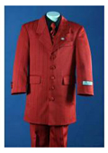 SKU#KA6572 Red Tailor Made Five Buttons Front Generous Flap Pockets Notch Lapel Boys Suits $125