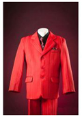 SKU#KA8736 Red Pinstripes Notch Lapel Single Breasted Designer Custom Fully Lined Boys Suits $99