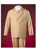 Ivory Pinstripes Polyester Elegant Design Single Breasted Notch Lapel Boys Suits $99