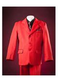 SKU#KA2432 Red Pinstripes Notch Lapel Single Breasted Designer Boys Suits $99