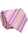 Classic Pink Striped Necktie
