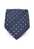 Navy Blue Polka Dot