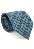 Blue Striped Gentlemans Necktie