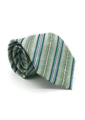 Classic Green Striped Necktie