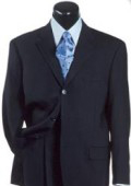 SKU 3BDVW175 Navy Blue Double Vent Super 140s Wool Made in Italy 175