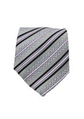 Classic Gray Striped Necktie