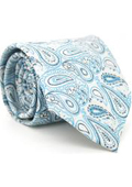Tourquoise Paisley Necktie with