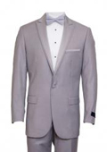 Slim Fit 1 Button Peak Trimmed Lapel