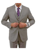 Tapered Leg Lower rise Pants & Get skinny Two Button Three Piece Notch Lapel Euro Slim Fit Suit Tapered pants- Grey $165