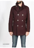 Burgundy Pea Coat Premium