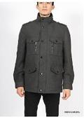 Premium Charcoal Wool Military