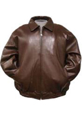 Brown Leather Bomber tanners