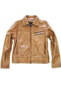 Front Genuine Leather Jacket