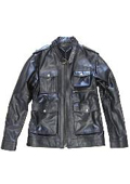 Black Military Genuine Leather