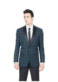 Teal Plaid Slim Fit
